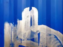 Vit på blått Royaltyfria Bilder