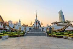 Vit pagod i Wat Yannawa fotografering för bildbyråer