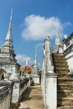 Vit Pagoda Arkivfoto