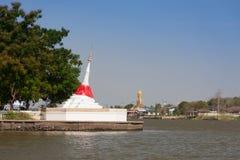 Vit Pagoda Fotografering för Bildbyråer