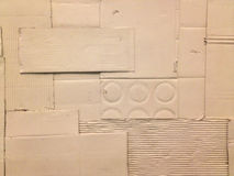 Vit paketerar kräpp-pappers- texturerar arkivfoton