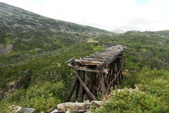 Vit passerande- och Yukon väg - Alaska - Yukon Arkivfoton