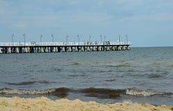 Vit pir vid Östersjön royaltyfri foto