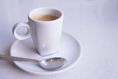 Vit rånar av kaffe Arkivbilder