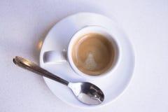 Vit rånar av kaffe Arkivfoto
