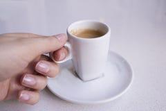 Vit rånar av kaffe Royaltyfri Bild
