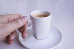 Vit rånar av kaffe Royaltyfria Foton