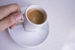 Vit rånar av kaffe Arkivfoton