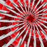 Vit röd bakgrund för modell för fractal för abstrakt begrepp för effekt för flygplanairscrewspirall För flygplanpropeller för cir Arkivbild