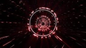 vit röd för Stargate för science fiction 3D bakgrund för rörelse för ögla tunnel VJ lager videofilmer