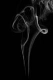 Vit rök på svart bakgrund Royaltyfri Fotografi