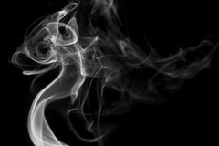 Vit rökbakgrund Royaltyfria Foton