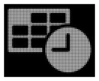 Vit rastrerad datum och Tid symbol royaltyfri illustrationer