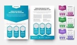 Vit reklambladmall för vektor med lutningdesignbeståndsdelar Royaltyfri Bild