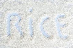 Vit rice Fotografering för Bildbyråer