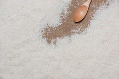 Vit rice Jasmine Rice thailändskt ris, rå ris Fotografering för Bildbyråer