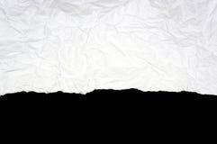 Vit rivit sönder papper Royaltyfri Fotografi