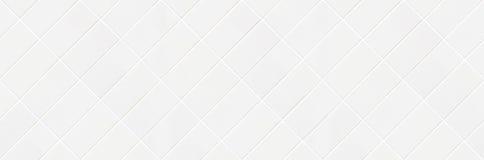 Vit romboidisk tegelplattamosaik Royaltyfri Foto
