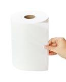 Vit rulle för paper handduk Royaltyfri Foto