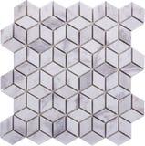 Vit sömlös diamant formad mosaisk modell Arkivfoton