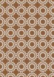 Vit sömlös Retro abstrakt vektorbakgrund för brunt och Arkivbild