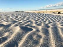 Vit sand för natur i nytt - Mexiko arkivbild