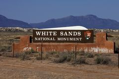 Vit sandpapprar nationalparken i nytt - Mexiko Arkivbild