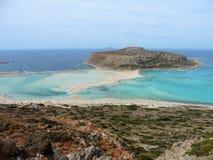 Vit sandstrand, Kreta Arkivbilder