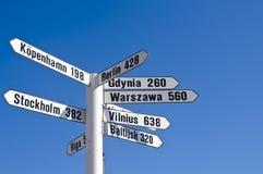 Vit signpost fotografering för bildbyråer