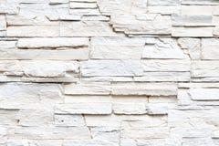 Vit skivad stenvägg Royaltyfri Fotografi