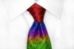 Vit skjorta RainbowTie Royaltyfria Bilder