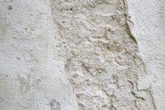 Vit skrapad grov betongväggtextur för bakgrund Royaltyfri Fotografi