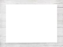 Vit skrapade träramen, affischtavlan eller horisontalrektangel med plankor Royaltyfria Bilder