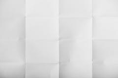 Vit skrynklig paper textur Arkivfoton