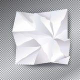 Vit skrynklig pappers- vektor Royaltyfria Bilder
