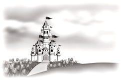 Vit slott stock illustrationer
