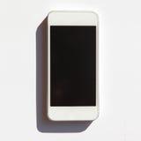 Vit smartphone med isolerad skugga Royaltyfri Bild