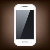 Vit Smartphone vektor Fotografering för Bildbyråer