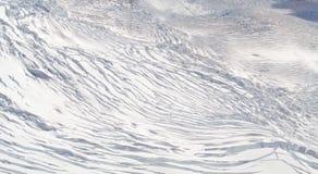 Vit snö på bergöverkantkullen och den spruckna glaciären, rävglaciär, Nya Zeeland Royaltyfri Bild