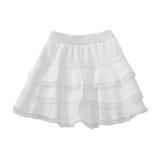 Vit snör åt kjolen på vit Royaltyfri Fotografi