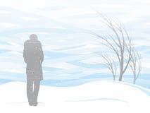 Vit snöstorm vektor illustrationer