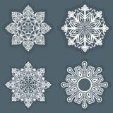 Vit Snowflake Royaltyfri Bild