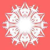 Vit Snowflake Snöflinga för affischer, kort, inbjudandesign Royaltyfria Foton
