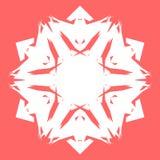 Vit Snowflake Snöflinga för affischer, kort, inbjudandesign Arkivbild