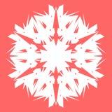 Vit Snowflake Snöflinga för affischer, kort, inbjudandesign Arkivfoton