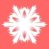 Vit Snowflake Snöflinga för affischer, kort, inbjudandesign Royaltyfri Foto