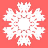 Vit Snowflake Snöflinga för affischer, kort, inbjudandesign Royaltyfri Fotografi