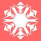 Vit Snowflake Snöflinga för affischer, kort, inbjudandesign Arkivfoto