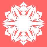 Vit Snowflake Snöflinga för affischer, kort, inbjudandesign Royaltyfri Bild