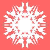 Vit Snowflake Snöflinga för affischer, kort, inbjudandesign Fotografering för Bildbyråer